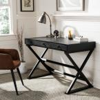 Safavieh Gilbert Distressed Black Desk with 3-Drawers