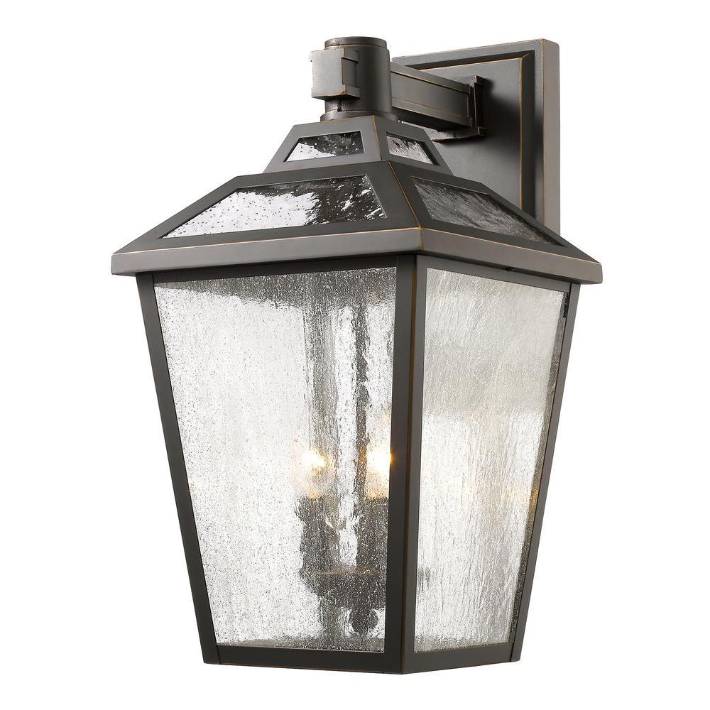 Filament Design Wilkins 3 Light Oil Rubbed Bronze Outdoor Sconce
