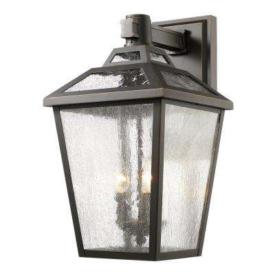 Wilkins 3-Light Oil-Rubbed Bronze Outdoor Sconce