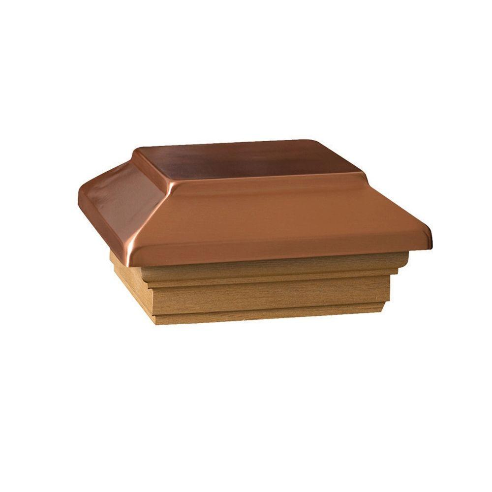 4 in. x 4 in. Wood Victoria Copper Flat Plateau Post