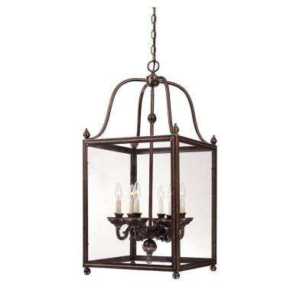 6-Light Bronze Hanging/Ceiling Pendant