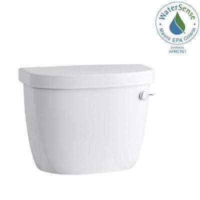 Cimarron 1.28 GPF Single Flush Toilet Tank Only with Right-Hand Trip Lever and AquaPiston Flushing Technology in White