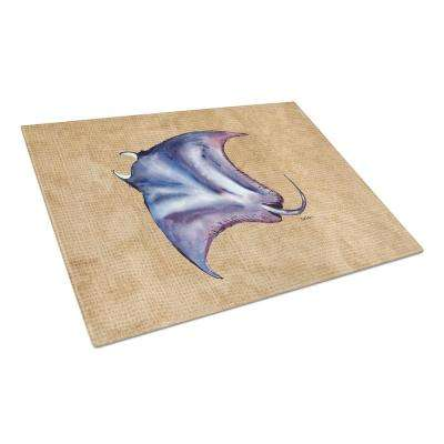 Stingray Tempered Glass Large Cutting Board
