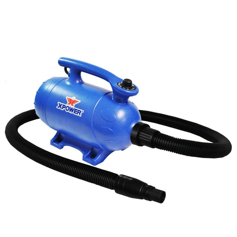 XPOWER 4 HP Variable Speed 2-in-1 Pet Dryer + Vacuum