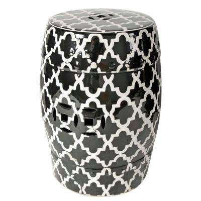 Finley 13 in. x 18 in. Black Decorative Indoor/Outdoor Vase