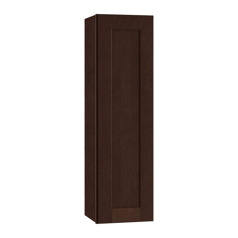 Home Decorators Collection Franklin Assembled 18x36x12 in. Single Door Hinge Left Wall Kitchen Cabinet in Manganite
