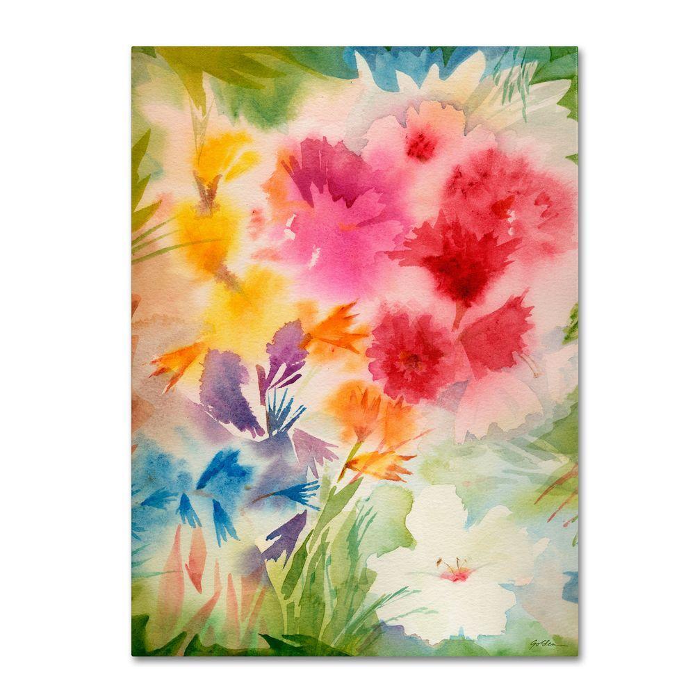 35 in. x 47 in. Bright Garden Canvas Art