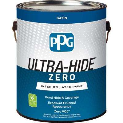 Ultra-Hide Zero 1 gal. Pure White/Base 1 Satin Interior Paint