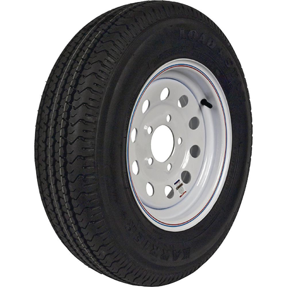 Loadstar 2830 lb. Load Capacity White Modular Steel Wheel Rim by Loadstar