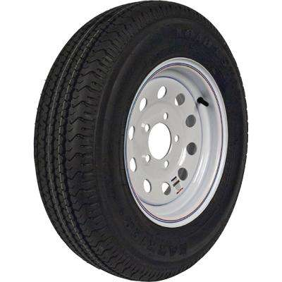 ST205/75R-15 KR03 Radial 1820 lb. Load Capacity White with Stripe 15 in. Bias Tire and Wheel Assembly