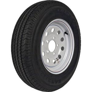 ST205/75R-15 KR03 Radial 1820 lb. Load Capacity White with Stripe 15 inch Bias...