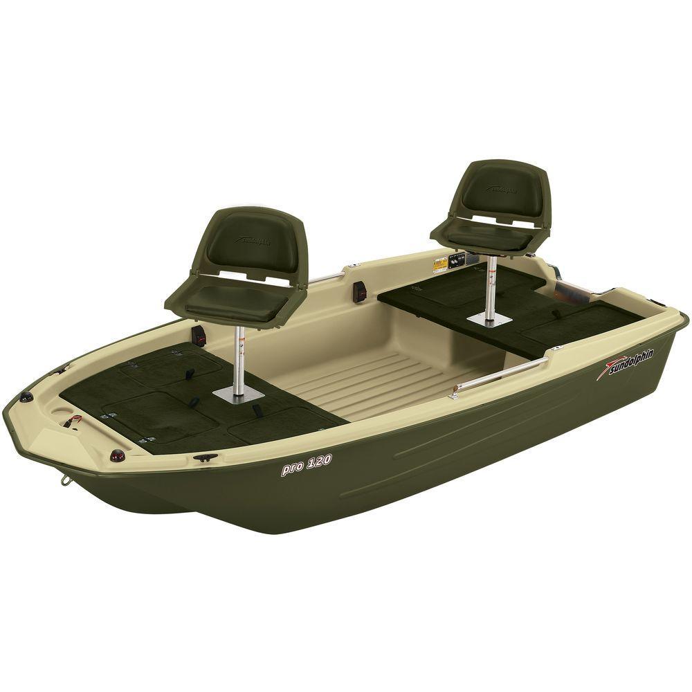 Sun dolphin pro fishing boat cream brown 10 2 feet for Sun dolphin pro 10 2 fishing boat