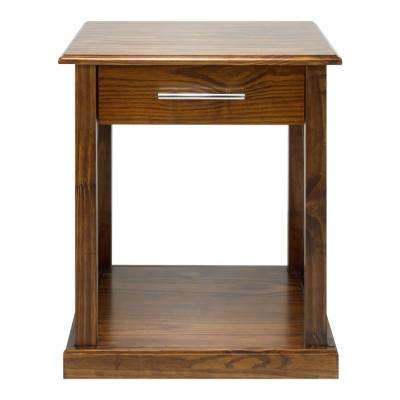 Bay View Warm Brown End Table