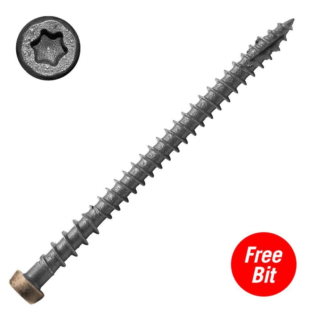 #10 x 2-3/4 in. Star Drive Self-Countersinking Flat Head ACQ Compatible Cedar Composite Deck Screws (75 per Pack)
