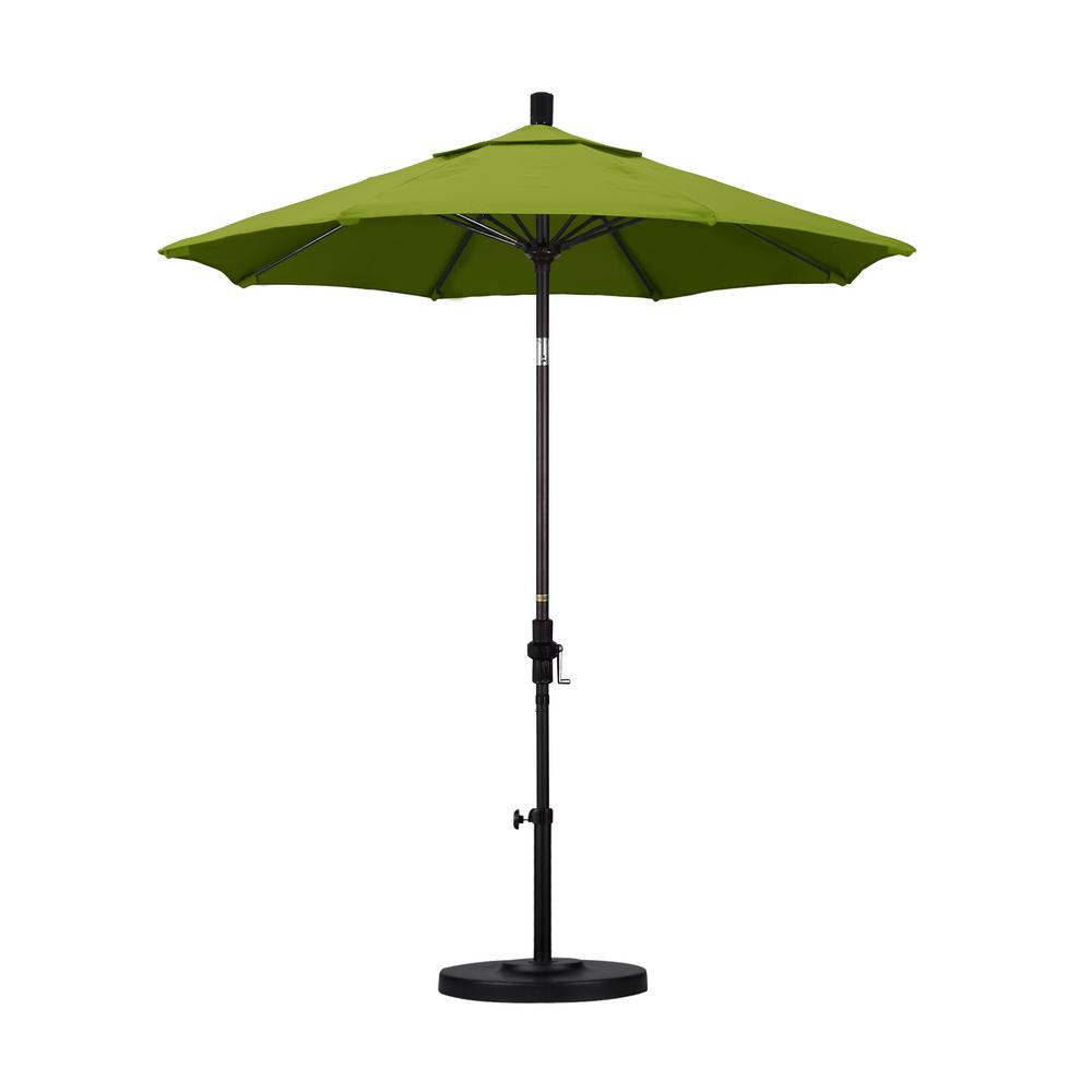 7-1/2 ft. Fiberglass Collar Tilt Patio Umbrella in Kiwi Olefin