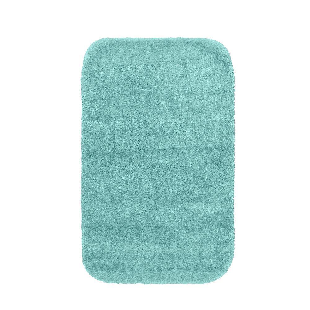 Garland Rug Traditional Sea Foam 24 inch x 40 inch Washable Bathroom Accent Rug by Garland Rug
