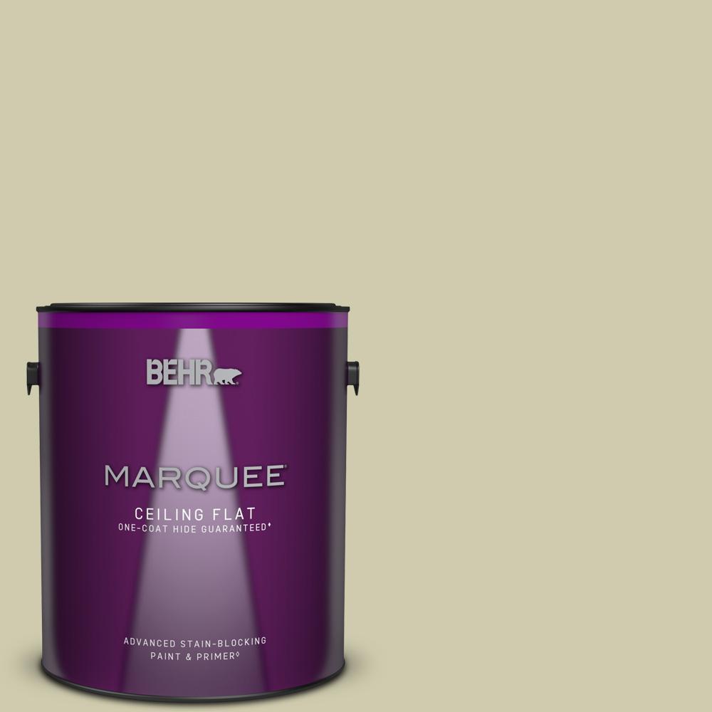 1 gal. #PPU9-18 Cilantro Cream Ceiling Flat Interior Paint and Primer in One