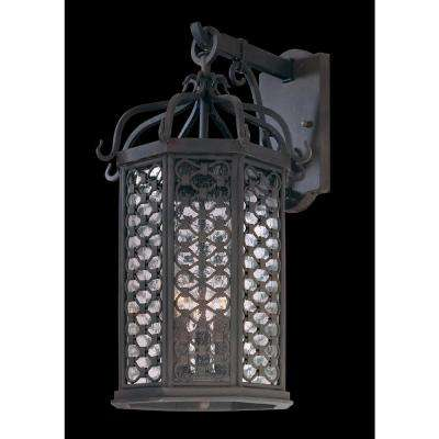 Los Olivos 3-Light Old Iron Outdoor Wall Mount Lantern