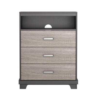 Manhattan 3-Drawer Java Brown with Sonoma Chest of Drawers
