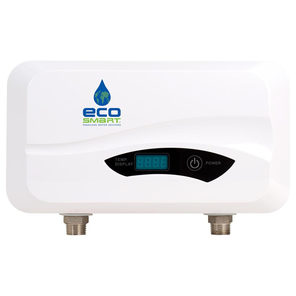 Ecosmart 3 5 Kw 0 5 Gpm Point Of Use Electric Tankless