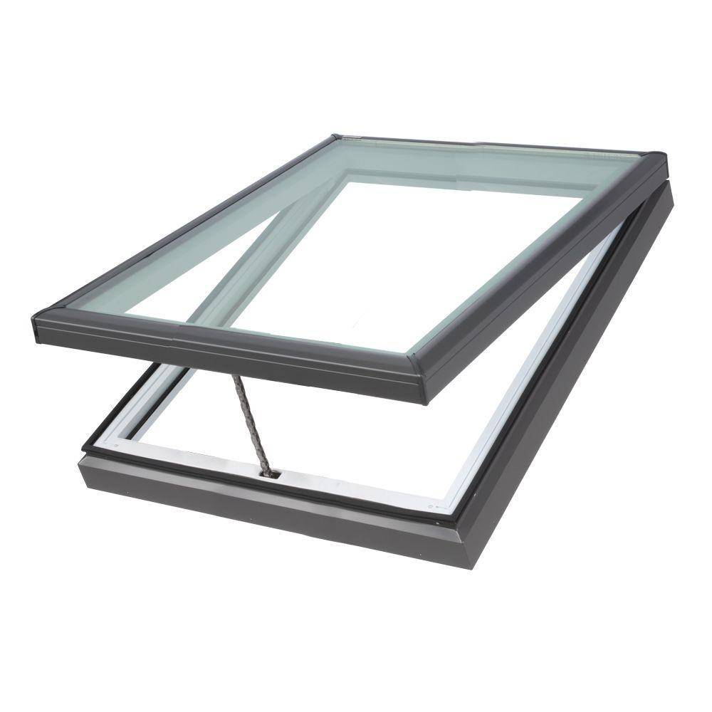 VELUX 22-1/2 in. x 22-1/2 in. Fresh Air Venting Curb-Mount Skylight with Tempered Low-E3 Glass