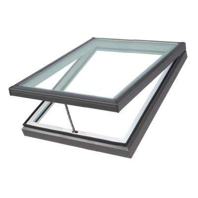 22-1/2 in. x 22-1/2 in. Fresh Air Venting Curb-Mount Skylight with Tempered Low-E3 Glass
