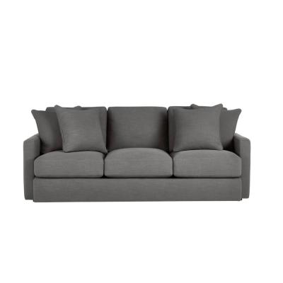 Rutherford Cambric Charcoal Gray Straight Standard Sofa for 3 (86.5 in. W x 35 in. H)