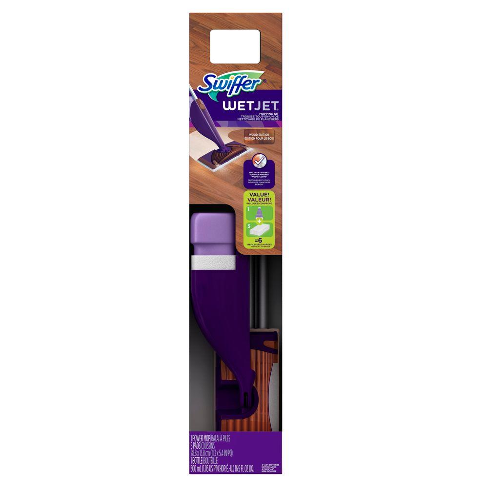 Swiffer Wetjet Wood Floor Power Mop Starter Kit