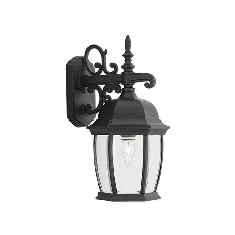 Designers Fountain Hallowell Collection Black Outdoor Wall-Mount Lantern