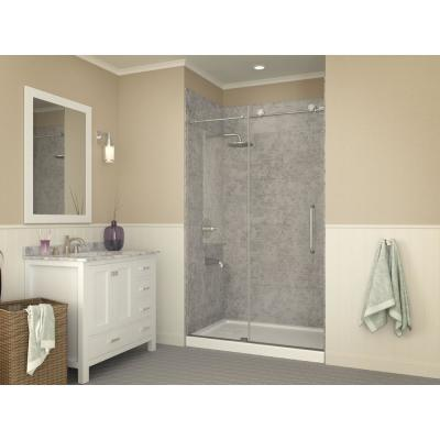 Forum Series 48 in. x 32 in. Single Threshold Shower Base in White