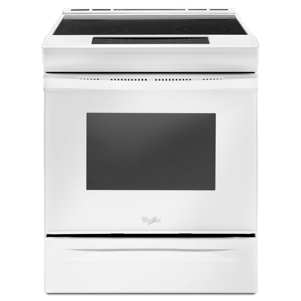 Whirlpool 30 in. 4.8 cu. ft. Slide-In Electric Range in White