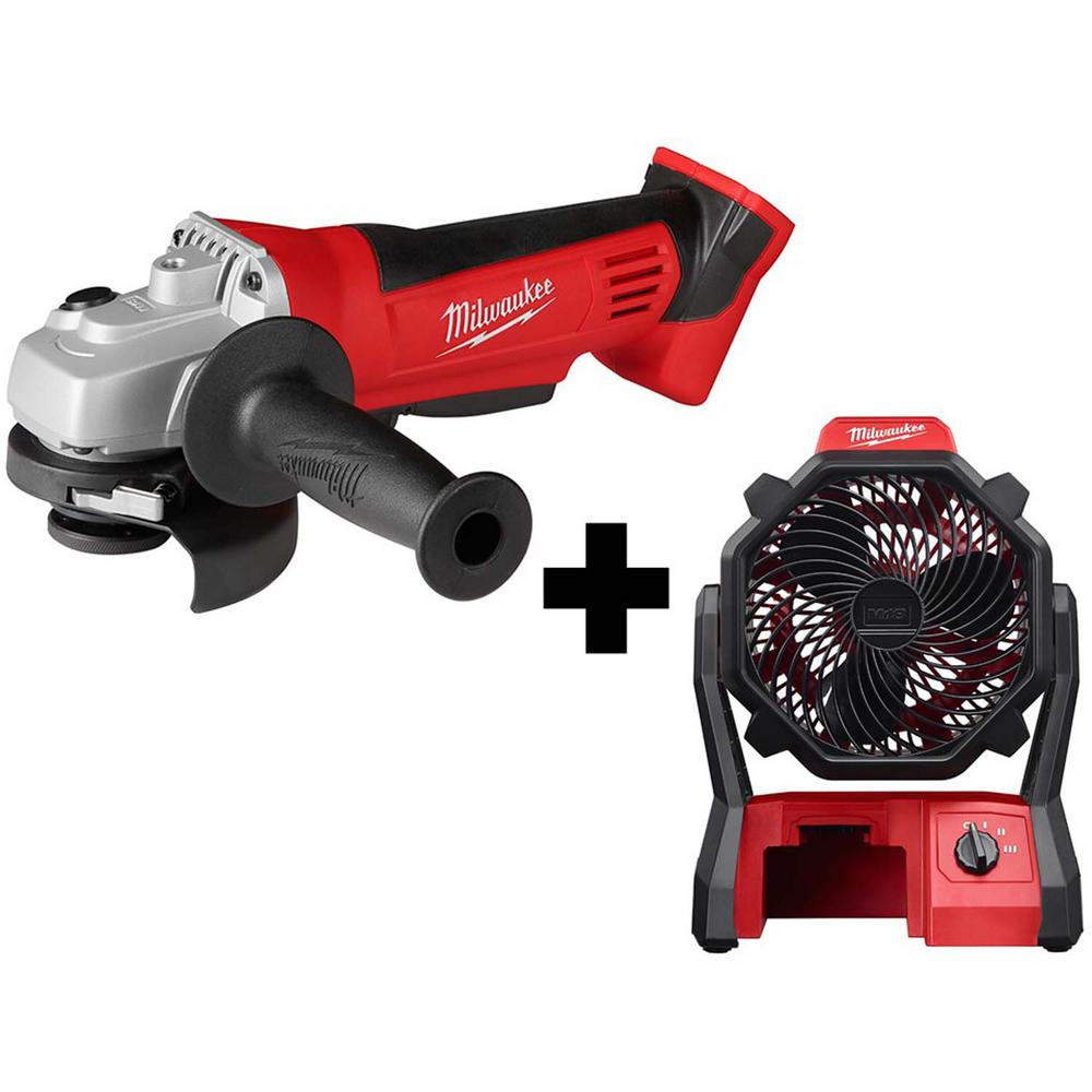 Milwaukee M18 18-Volt Lithium-Ion Cordless 4-1/2 in. Cut-Off/Grinder with M18 Jobsite Fan