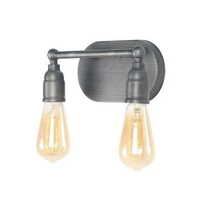 2-Light Gray Vanity Lights Armed Wall Sconces Bath Light