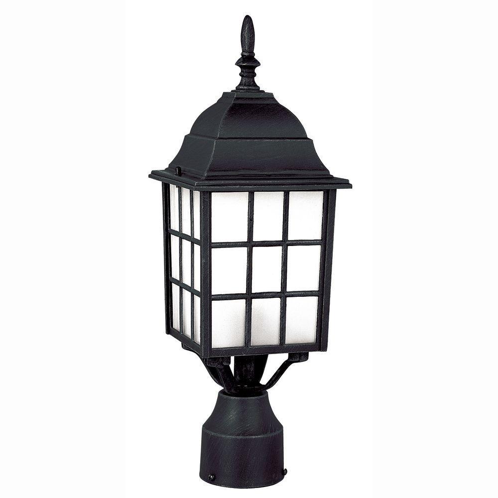 Outdoor Post Light Replacement Glass: Bel Air Lighting Cityscape 1-Light Outdoor Black Post Top