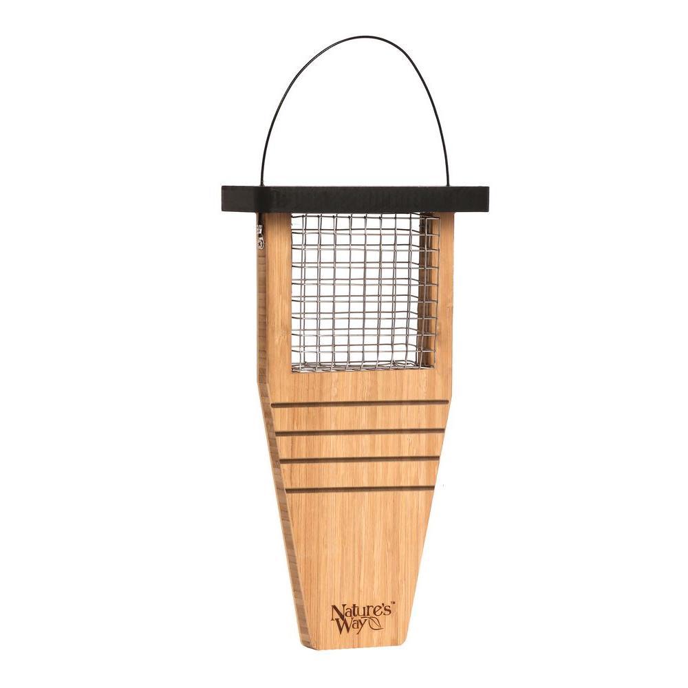 Bamboo Suet Tail Prop Bird Feeder