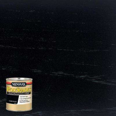 8 oz. PolyShades Classic Black Satin Stain and Polyurethane in 1-Step (4-Pack)