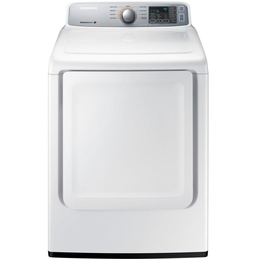 Samsung 7.4 cu. ft. Gas Dryer in White