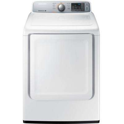7.4 cu. ft. Gas Dryer in White
