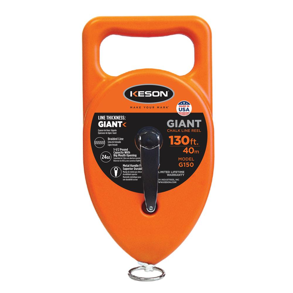 Keson 130 ft. Giant Chalk Line Reel