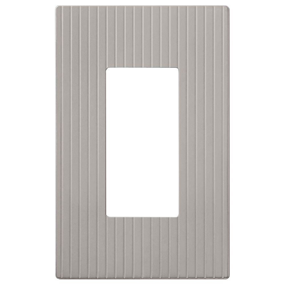 Mies Screwless 1 Decora Wall Plate - Nickel