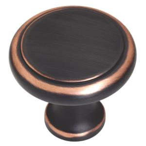 1-3/4 in. Venetian Bronze with Copper Highlights Oversized Perimeter Cabinet Knob