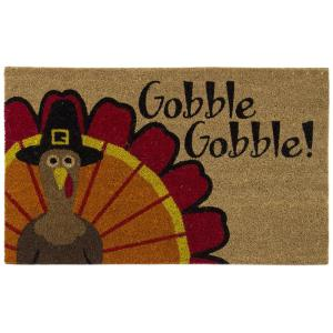 Home Accents Gobble Gobble 18 inch x 30 inch Door Mat by Home Accents