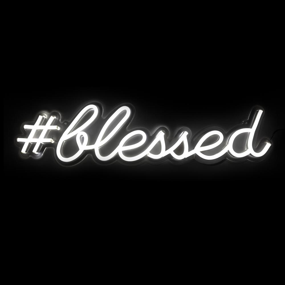 Oliver Gal 'Blessed' Plug-in LED Lighted Sign