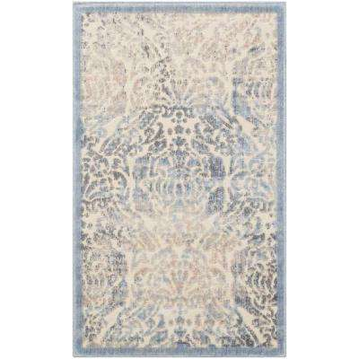 Graphic Illusions Sky 2 ft. x 4 ft. Area Rug