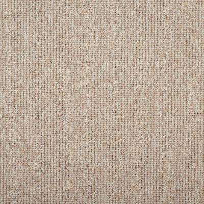 Tidal Tweed Natural Custom Area Rug with Pad