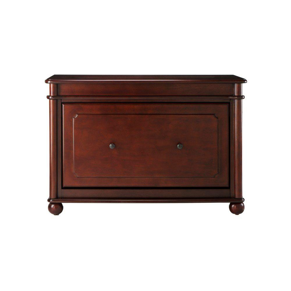 Home Decorators Collection Essex 23 in. H Suffolk Cherry Shoe Cabinet