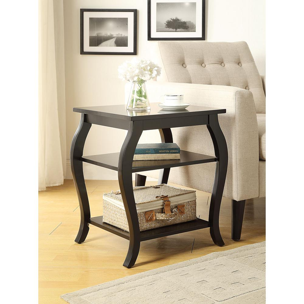 Acme Furniture Becci Black Storage End Table 82826 The