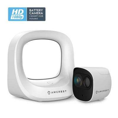 1080p SmartHome Indoor/Outdoor Battery Powered Security Camera System with Smart Hub Connection
