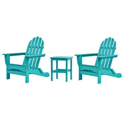 Icon Aruba 3-Piece Plastic Adirondack Chat Set