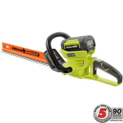 24 in. 40-Volt Lithium-Ion Cordless Hedge Trimmer - 2.6 Ah Battery and Charger Included